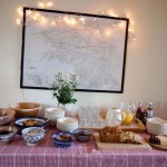 The buffet at Kilcullen House