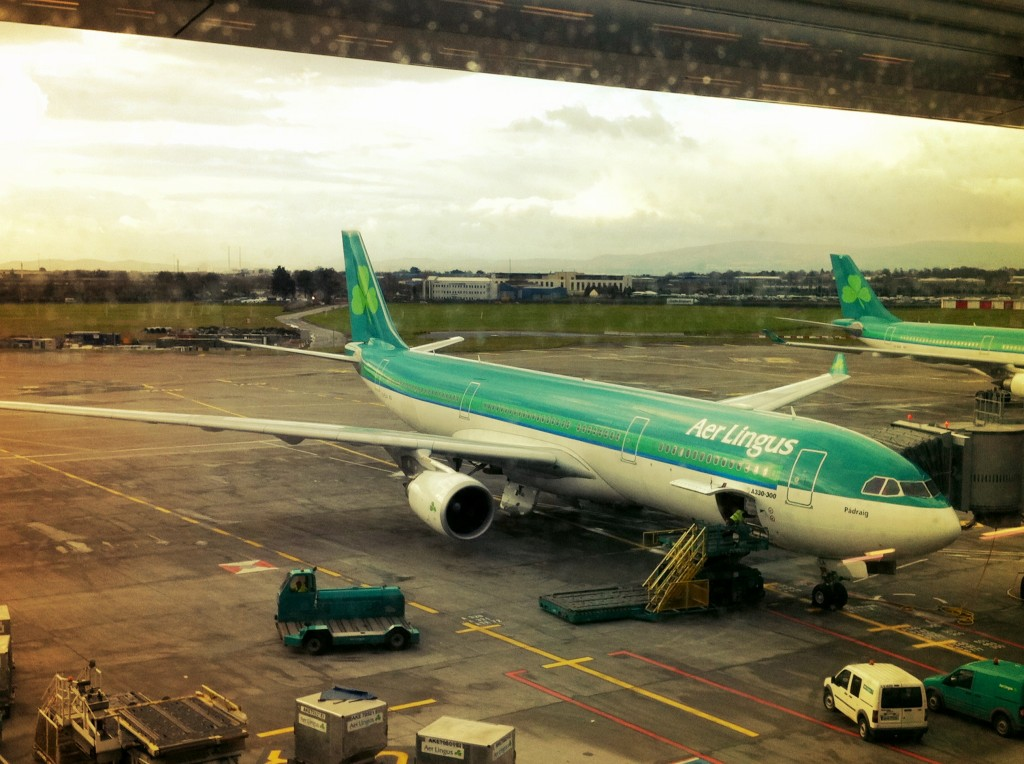 On Aer Lingus to Ireland, March 2011
